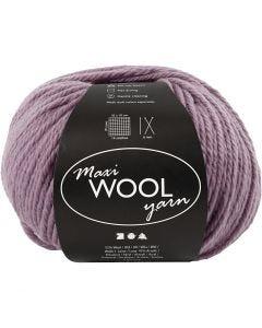 Wool yarn, L: 125 m, lavender, 100 g/ 1 ball