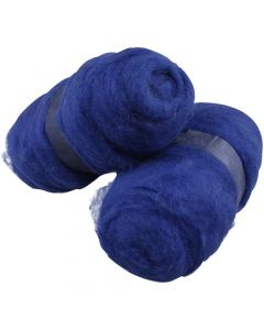 Carded Wool, royal blue, 2x100 g/ 1 pack
