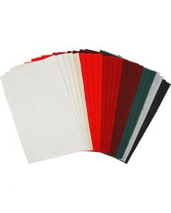 Craft Felt, 20x30 cm, thickness 1,5 mm, 180-200 g, assorted colours, 24 ass sheets/ 1 pack