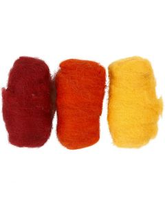 Carded Wool, pastel yellow (32244), 3x10 g/ 1 pack