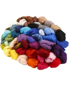 Wool, thickness 21 my, assorted colours, 20x20 g/ 1 pack