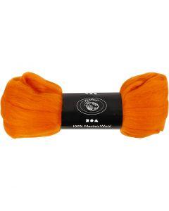 Wool, thickness 21 my, orange, 100 g/ 1 pack