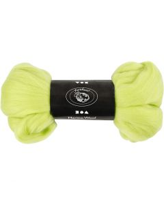 Wool, thickness 21 my, lime green, 100 g/ 1 pack