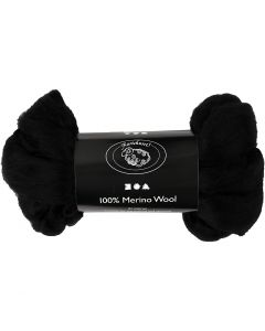 Wool, thickness 21 my, black, 100 g/ 1 pack