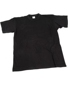 T-shirt, W: 40 cm, size 7-8 years, round neck, black, 1 pc