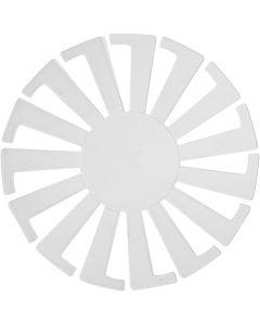 Basket Weaving Template, H: 6 cm, D: 8 cm, transparent, 10 pc/ 1 pack
