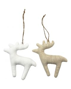 Fabric Figures, size 11x11,5 cm, white, light natural, 6 pc/ 1 pack