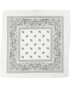 Printed Bandana, size 55x55 cm, white, 1 pc