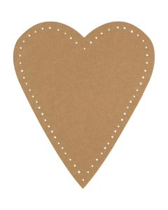 Heart, H: 12 cm, W: 10 cm, 350 g, natural, 4 pc/ 1 pack