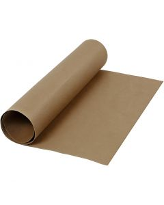 Faux Leather Paper, W: 50 cm, one coloured, 350 g, dark brown, 1 m/ 1 roll