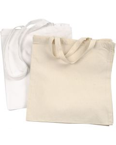 Shopping Bag, 135 g, white, light natural, 2x10 pc/ 1 pack