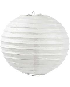 Rice paper lamp, Round, D: 20 cm, white, 1 pc