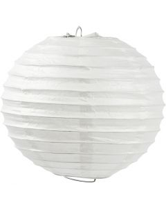 Rice paper lamp, Round, D: 35 cm, white, 1 pc