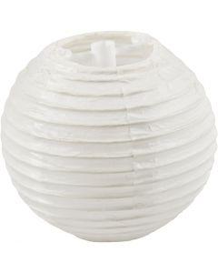Paper Lamp, D: 7,5 cm, white, 10 pc/ 1 pack