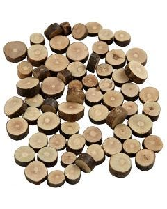 Wood Mix, D: 10-15 mm, thickness 5 mm, 230 g/ 1 pack