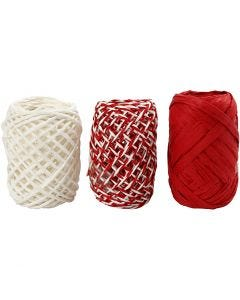 Paper String, red/white harmony, 3x10 m/ 1 pack