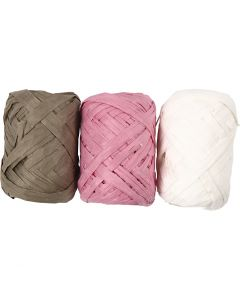 Raffia Ribbon, W: 6 mm, 3x10 m/ 1 pack
