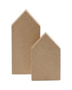 Houses, H: 12,5+15 cm, 2 pc/ 1 pack