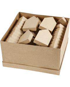 Houses, H: 12,5+15 cm, 66 pc/ 1 pack