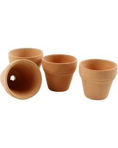 Flower Pots, H: 3,1 cm, D: 3,4 cm, 48 pc/ 1 box