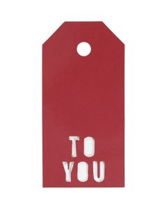 Manila Tags, TO YOU, size 5x10 cm, 300 g, red, 15 pc/ 1 pack