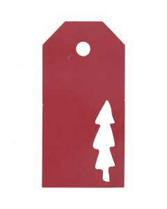 Manila Tags, christmas tree, size 5x10 cm, 300 g, red, 15 pc/ 1 pack