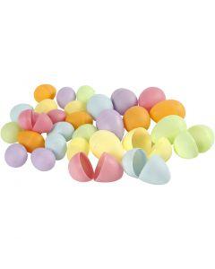 Egg, H: 4,5+6 cm, D: 3+4  cm, pastel colours, 180 pc/ 1 pack