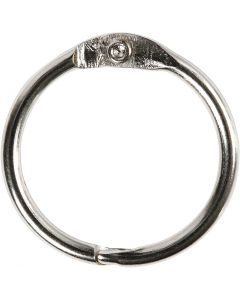Book Ring, D: 19 mm, thickness 2 mm, 10 pc/ 1 pack