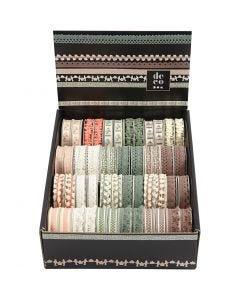 Decorative Ribbon, W: 10-15 mm, 48x2 m/ 1 pack