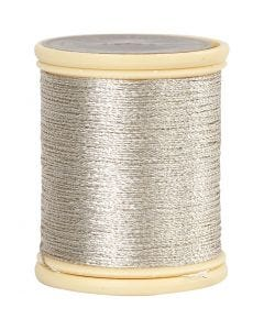 DMC Metallic Thread, thickness 0,36 mm, silver, 40 m/ 1 roll