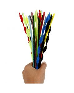 Pipe Cleaners, L: 30 cm, thickness 5-12 mm, assorted colours, 30 pc/ 1 pack