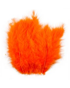 Feathers, size 5-12 cm, orange, 15 pc/ 1 pack