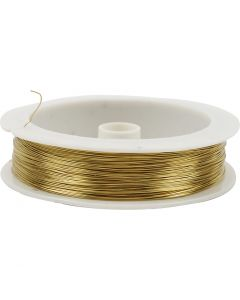 Brass Wire, thickness 0,3 mm, 70 m/ 1 roll