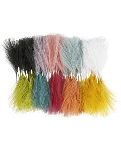 Artificial feathers, L: 15 cm, W: 8 cm, 100 pc/ 1 pack