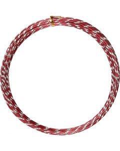 Aluminium Wire, diamond-cut, thickness 2 mm, red, 7 m/ 1 roll