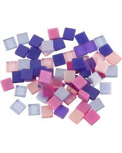 Mini Mosaic, size 5x5 mm, lilac/dark lilac, 25 g/ 1 pack