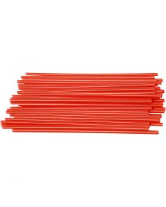 Construction Straw, L: 12,5 cm, D: 3 mm, red, 800 pc/ 1 pack