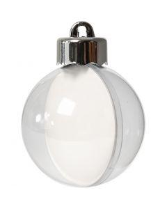 Baubles to Decorate, D: 5 cm, transparent, 10 pc/ 1 pack