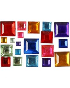 Rhinestones, size 4-10 mm, 1300 pc/ 1 pack