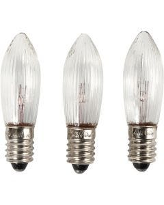 LED bulbs, H: 45 mm, D: 15 mm, 3 pc/ 1 pack