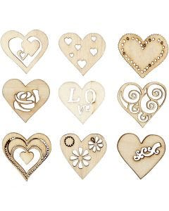 Wooden decorations, size 28 mm, 45 pc/ 1 pack