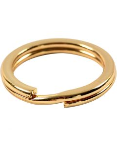 Split Ring, D: 15 mm, gold-plated, 15 pc/ 1 pack