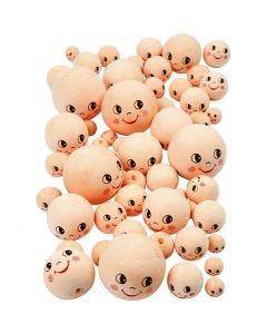 Heads, D: 12+18+22+30+40 mm, light beige, 100 pc/ 1 pack
