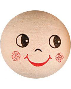Compressed Cotton Faces, D: 30 mm, 10 pc/ 1 pack