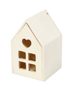 House with drawer, H: 10,8 cm, W: 6,8 cm, 1 pc