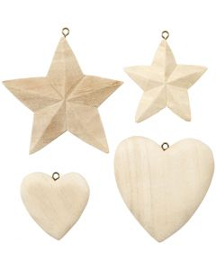 Hearts & Stars, 4 pc/ 1 pack