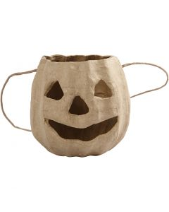 Pumpkin head basket, H: 8,5 cm, D: 9 cm, 1 pc