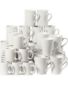 Porcelain Mug, H: 7-10 cm, white, 48 pc/ 1 box
