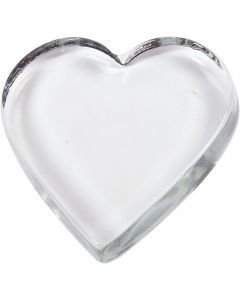 Heart, size 9x9 cm, thickness 15 mm, 1 pc