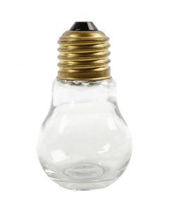 Light Bulb, H: 8 cm, 12 pc/ 1 box